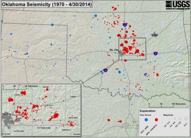 USGS Oklahoma Seismicity Map