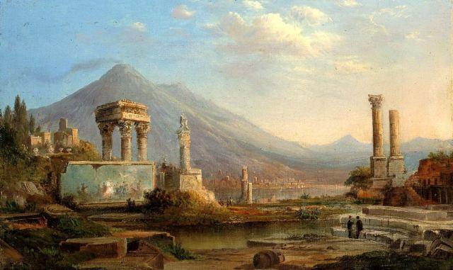 Duncanson's Pompeii and Vesuvius, 1870.
