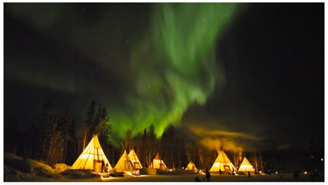 Northern lights in Yellowknife. Captured in 2013 by