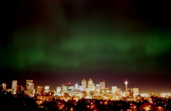 Northern Lights over Calgary