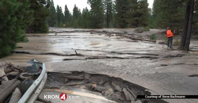 September 21, 2014 mud flood on Mount Shasta