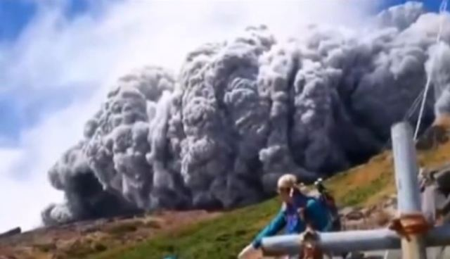The start of the Ontake eruption, September 27, 2014.