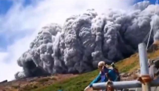 The start of the Ontake eruption, September 27, 2014.