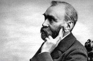 Alfred Nobel, wondering who should get this year's Nobel Prize in Geophysics.