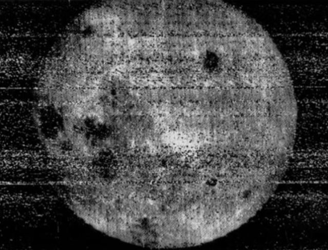 The first image of the far side of the Moon, taken by Luna 3 in October, 1959.
