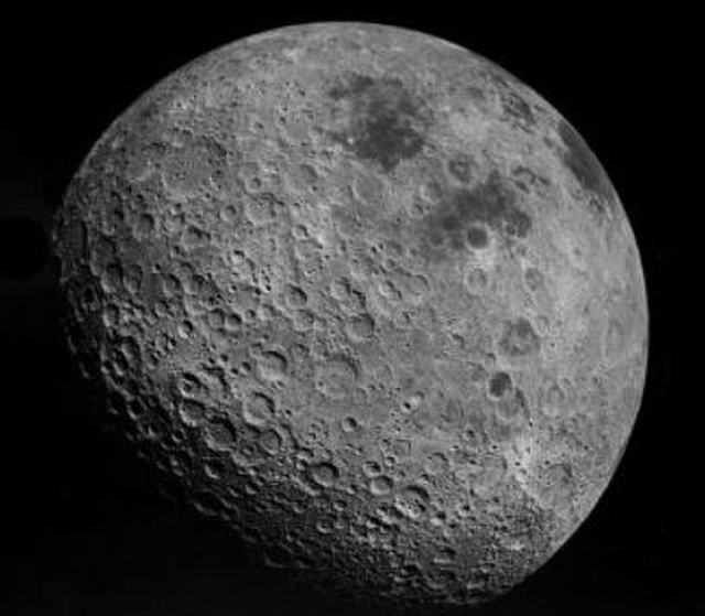 The far side of the Moon viewed in a more recent, sharper image.