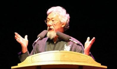 David Suzuki, talking geology, we assume.