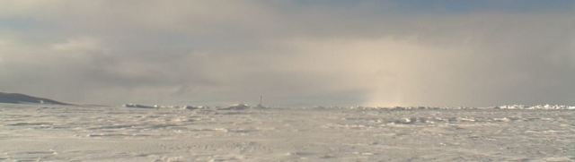 Up for grabs? North Pole web cam image from US NOAA.