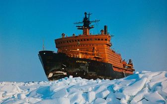 Arktika - the first surface ship to reach the North Pole - credit RIA Novosti, Commons