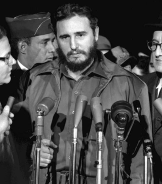 Havana lawyer, Dr Fidel Castro, in Washington DC, 1959.