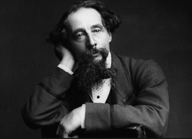 Dickens at age 49, photo by George Herbert Watkins