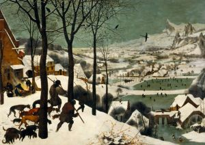Hunters in the Snow by Brueghel, 1565