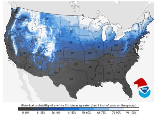 Probability of snow in the lower states - NOAA's National Climatic Data Center