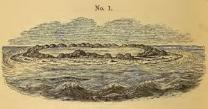 Darwin's drawing of a Pacific atoll, 1842