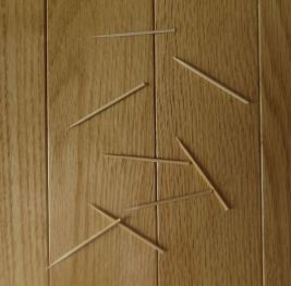 """Needles"" on the floor"