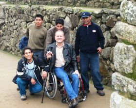 Ron and friends at Machu Pichu