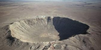 Meteor Crater in Arizona: Slowly eroding.