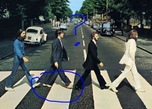 Paul is dead. Or just barefoot.