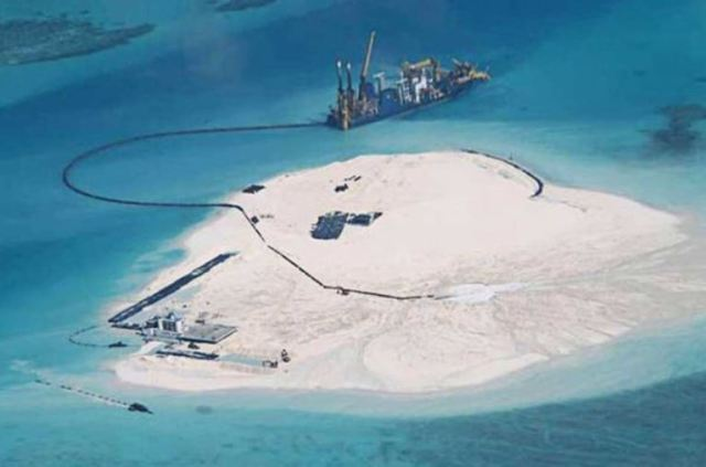 China's island building - photo by Bloomsberg