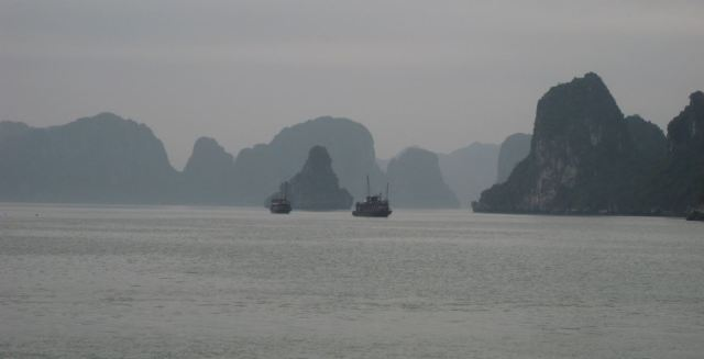 halong ships and islands