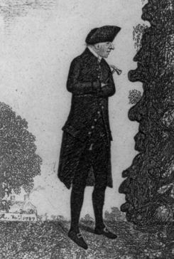 James Hutton (1726-97) in the field. Illustration in: Original Portraits and Caricature Etchings, 1877
