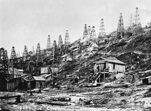 Titusville Oil Boom, around 1859