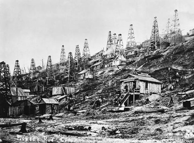 Titusville Oil Boom, around 1859