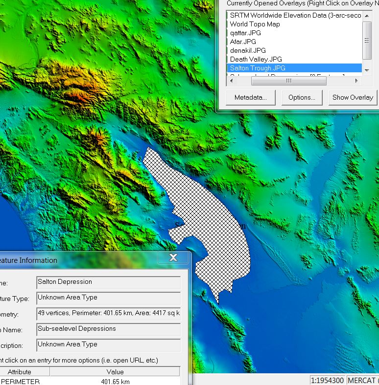 4a2c52d884 Areal extent of sub-sea-level Salton Depression, California.