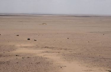 North Africa's Qattar Depression - a vast desert below sea level.