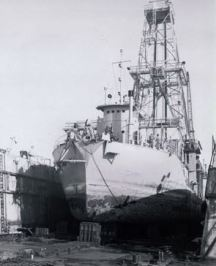 CUSS I drilling ship, 1961