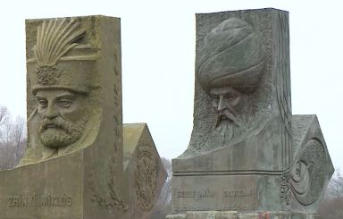 monuments to zrinski and szuleiman