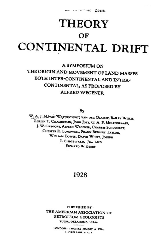 scientific methods of continental drift by dr wegener The continental drift theory is based on plate tectonics http  ing to wegener's hypothesis of continental drift,  most analytic methods are subject to drift.