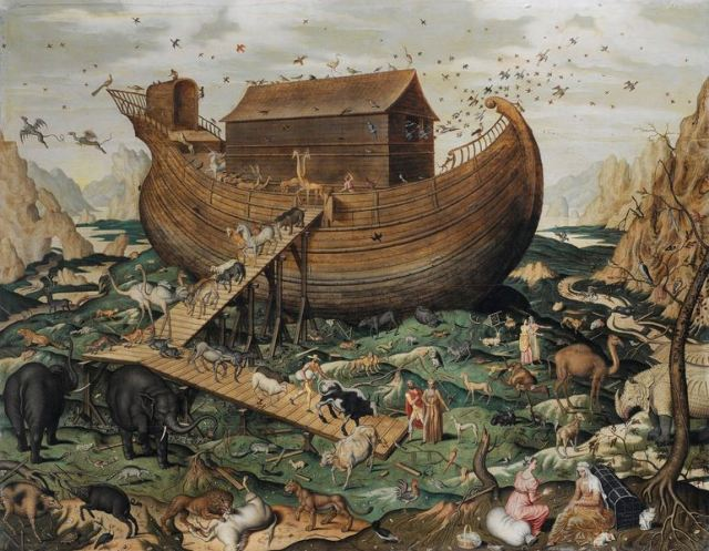 noahs-ark-on-ararat-by-simon-de-myle-1570