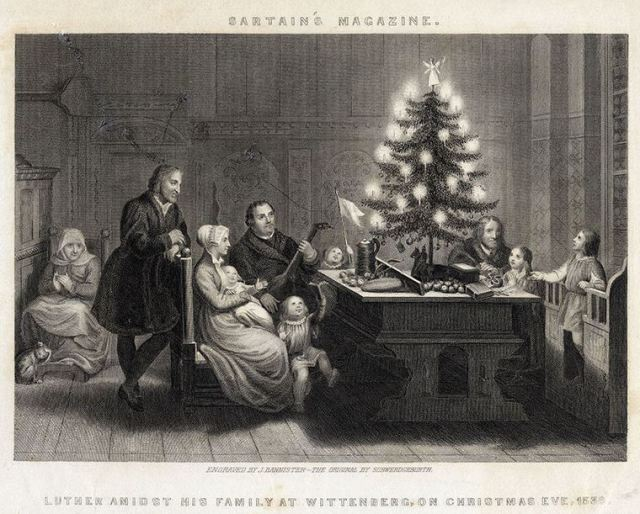 Matin Luther's Combustible Christmas Tree.